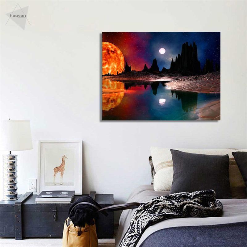 DIY Diamond Painting 5D Embroidery Home Office Wall Decor Star Sky 11.8*15.7