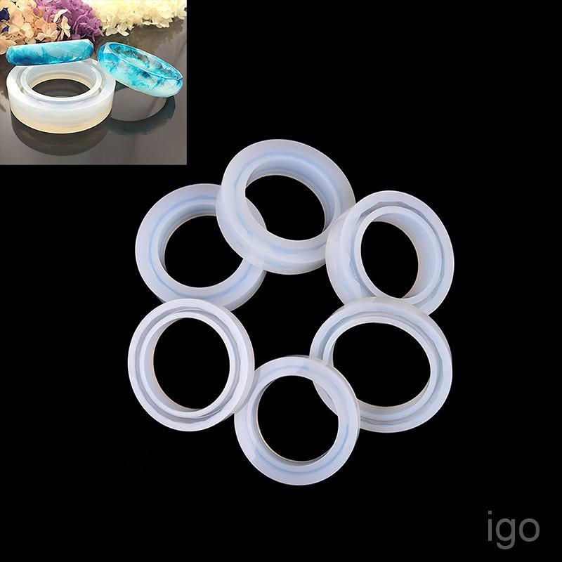 Transparent DIY Silicon Round Ring Mold Mould Jewelry Making Tool Resin molds FG