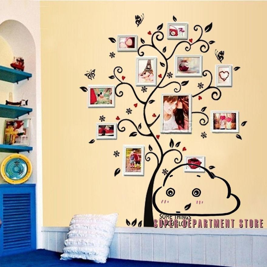 Family Tree Wall Art Picture Frame.Smp Family Tree Wall Art Stickers Photo Picture Frame
