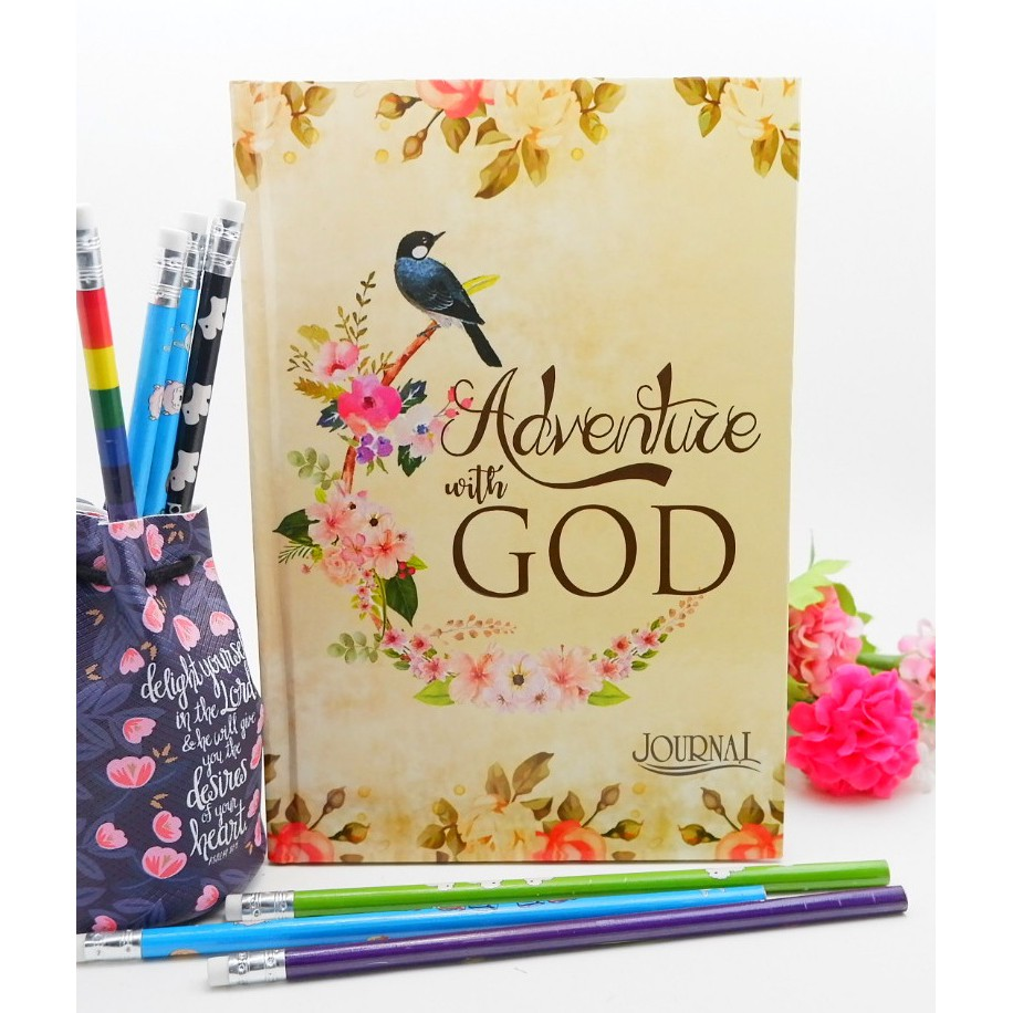 Hard Cover Journal with  Inspirational Bible Verse