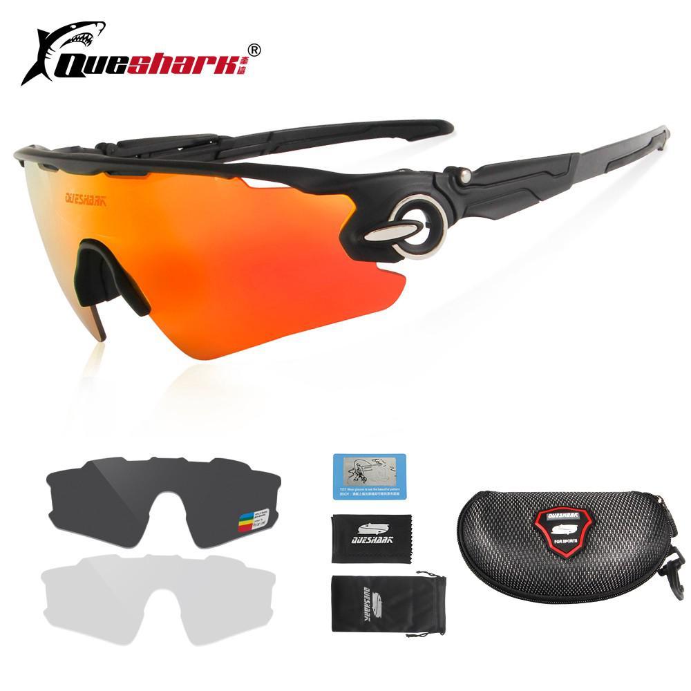 75b9dabbf1 Polarized Cycling Sunglasses 4 Lens UV Protection Sports