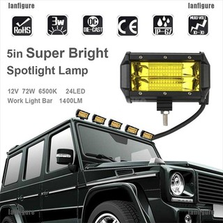 2X  Hot 5Inch 72W LED Car Work Light Bar for SUV Boat Driving Offroad ATV Lamp