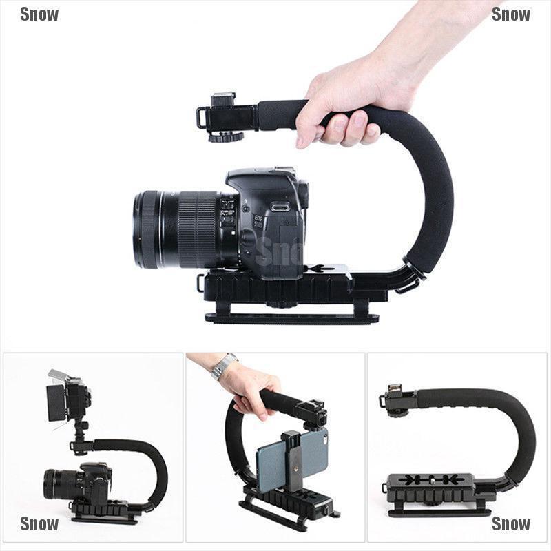 Camera LED Flash Light Holder Sponge Steadicam Handheld Monopod with Gimbal for SLR Camera Orange Color : Green Lightweight and Portable