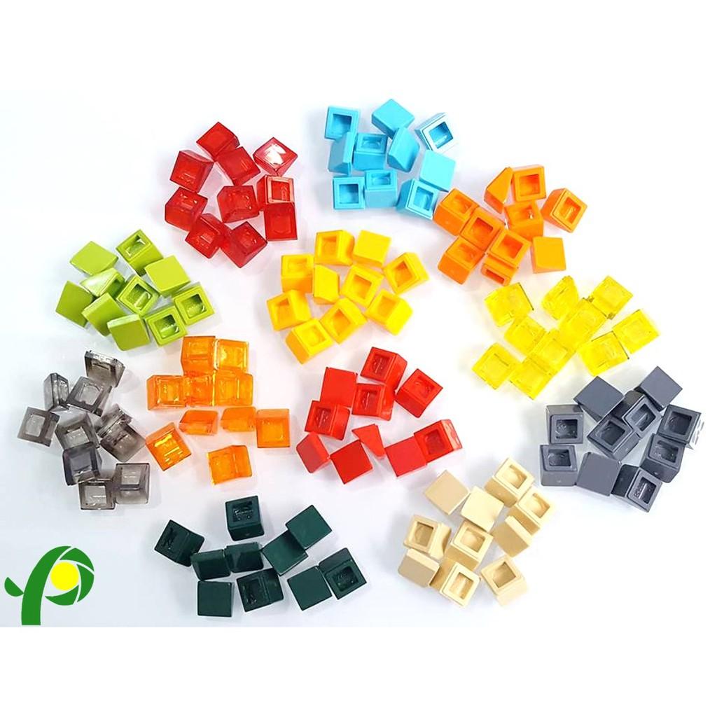 New LEGO Lot of 4 Medium Blue 1x1x2//3 Mini Slopes