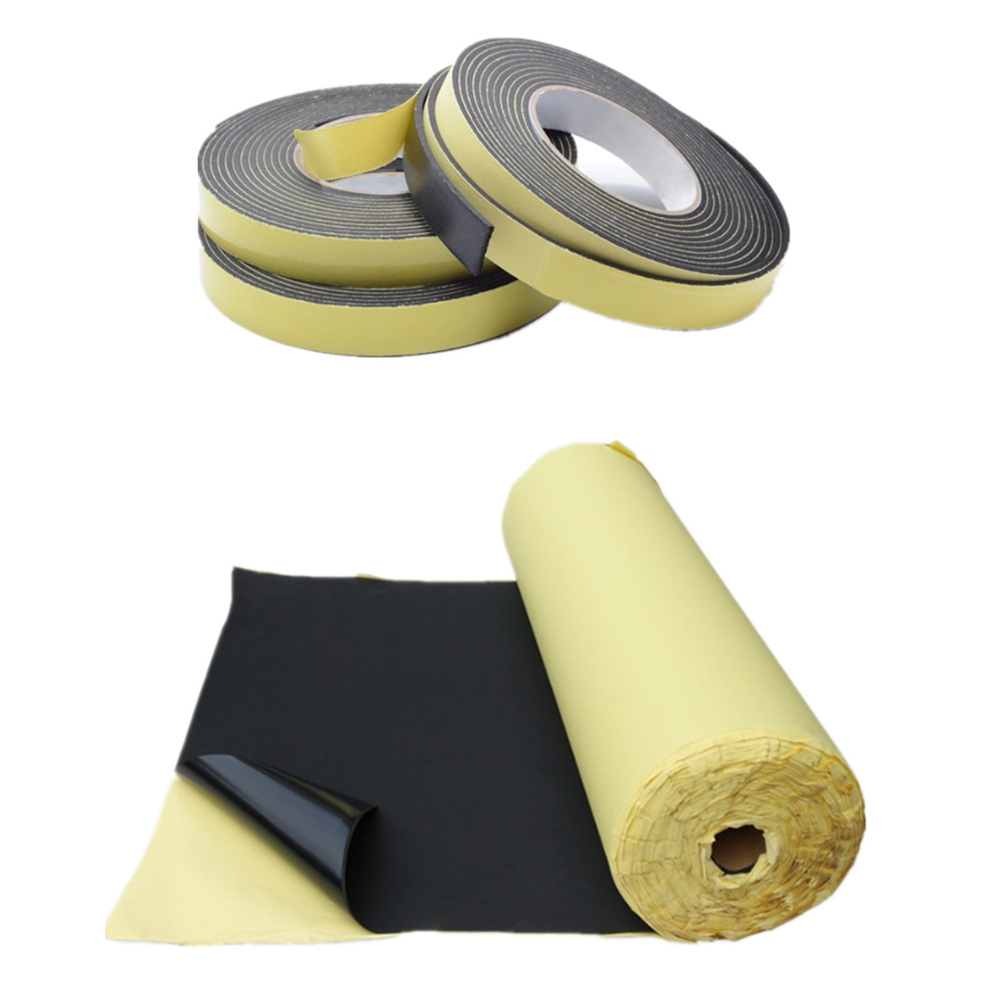 3mm 20mm 5m Foam Tape Newest Adhesive Waterproof Door Seal Rubber Strip Single Sided Weather Strip