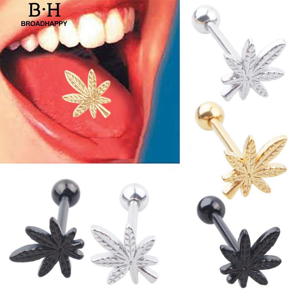 10x Stainless steel Ball Tongue Navel Nipple Barbell Rings Bars Body Piercing Pf