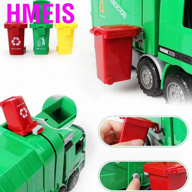 12 Inch Car for 3-8 Years Old Toys Truck with Lights and Sounds Friction Powered Car for Kids Garbage Truck Toy