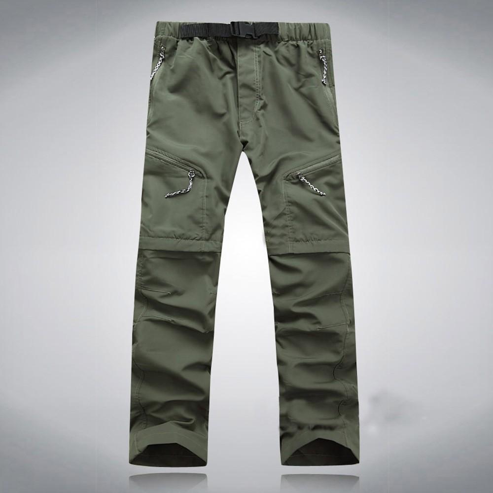 59d845b251db Mens quick dry Zip Convertible Pants Outdoor Hiking Trousers ...