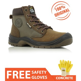 40a378cae39 Safety Jogger DAKAR S3 Brown Steel toe Safety Shoes High Cut for Men ...