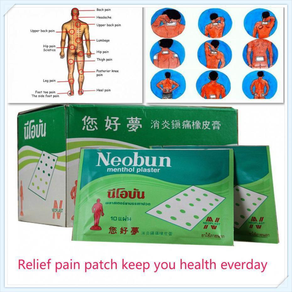 10pcs/Bag Neobun Pain Relief Patch Anti-inflammatory Menthol Analgesic  Plaster