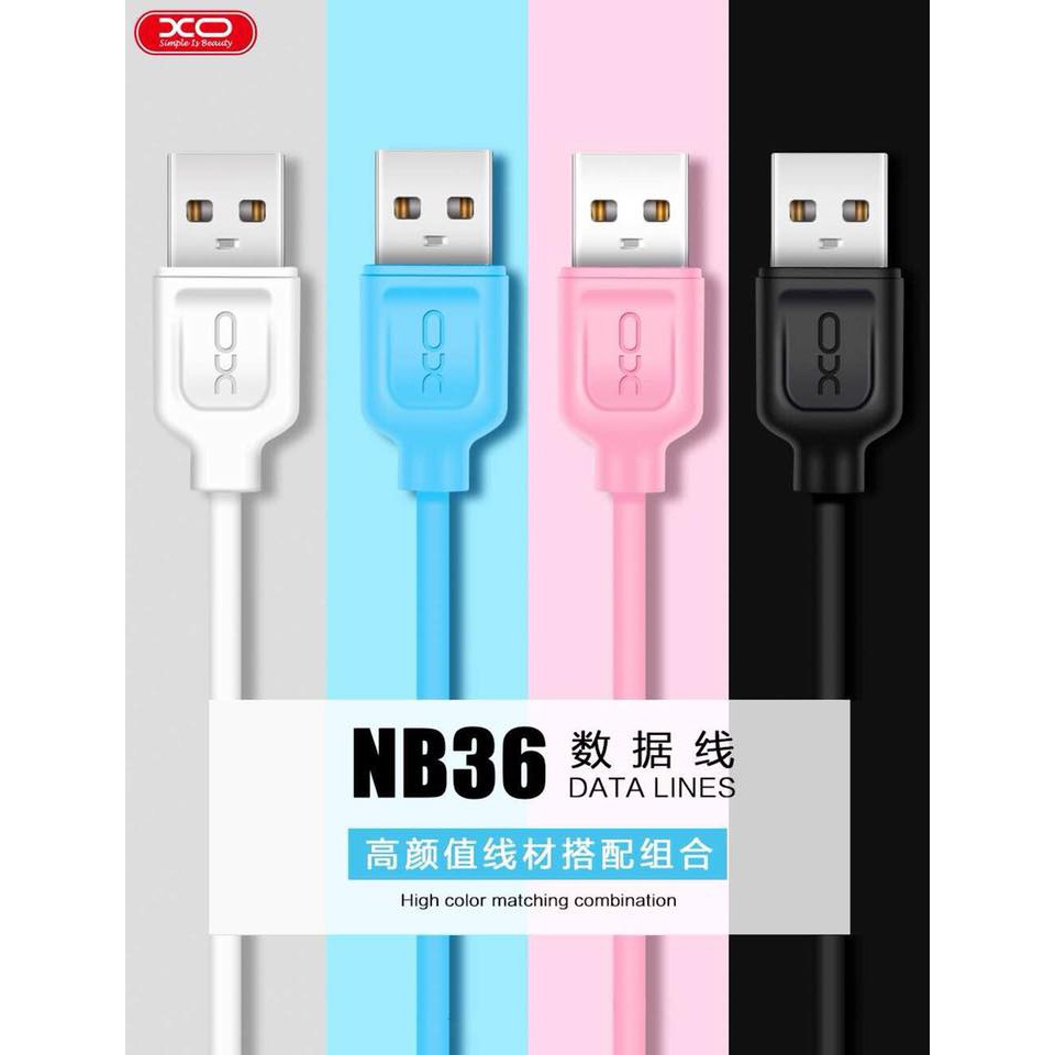 XO NB8 Micro USB Data Sync Charge Cable 1000mm | Shopee Philippines