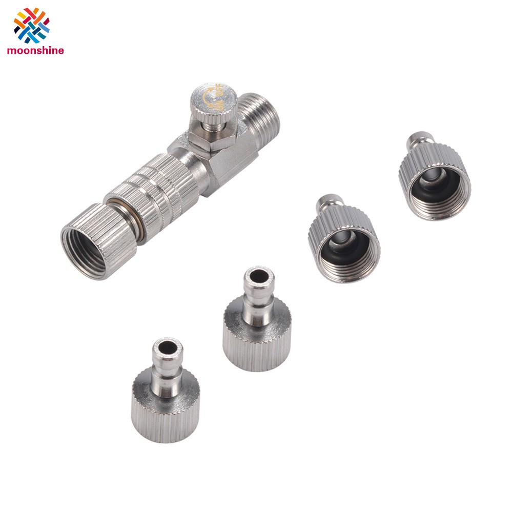 "Airbrush quick release coupling disconnect adapter with 1//8/"" plug fitting part"