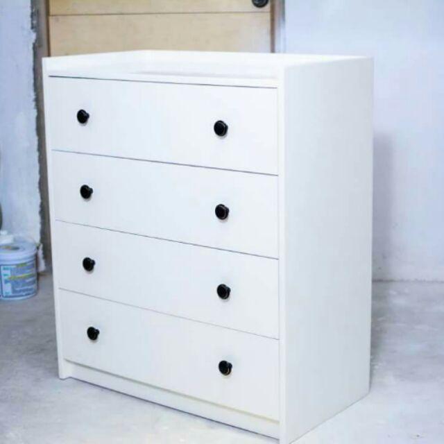 Wooden Chest Drawer White Sho