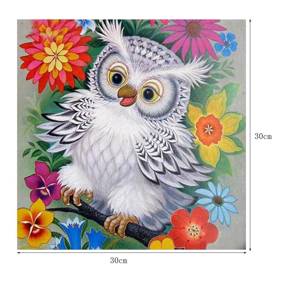 DIY 5D Diamond Painting Full drill Animal Dog Owl Bird Embroidery Decor 834T