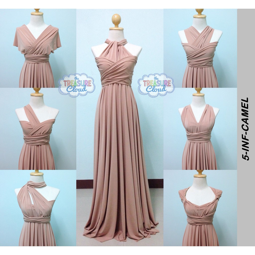 CHAMPAGNE) Infinity Dresses / Bridesmaid Dresses   Shopee Philippines