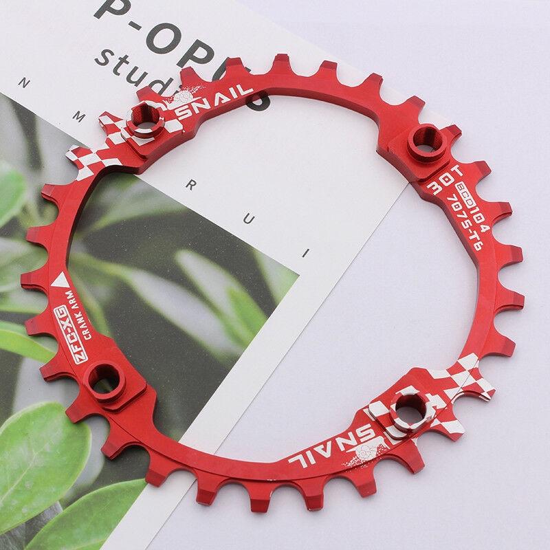 SNAIL 104BCD Bike Narrow Wide Chain ring 30T CNC Aluminum MTB Bicycle Chainwheel