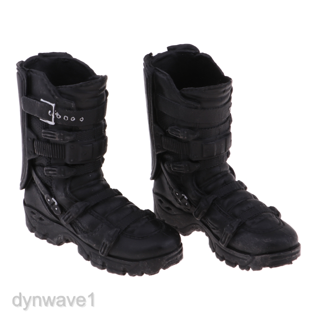 1//6 Male Mid Calf Combat Boot Shoes for 12/'/'   Hot Toys Action Figure Body