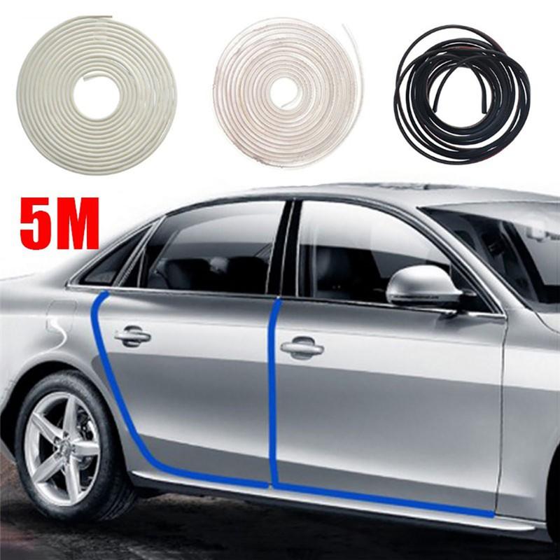 Black 5M Car Door Moulding Rubber Strip Trim Guard Edge Protector Cover Guard Trim for Car Vehicle Accessory Door Edge Protector