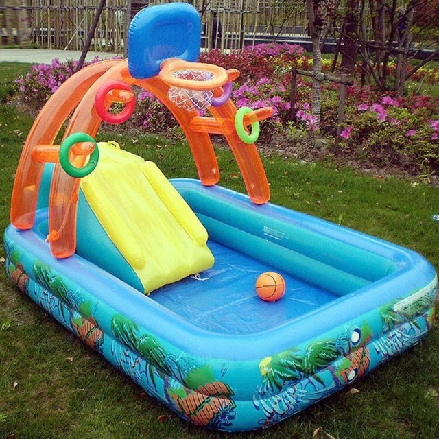 Child S Inflatable Pool Water Slide With Slides Shopee Philippines