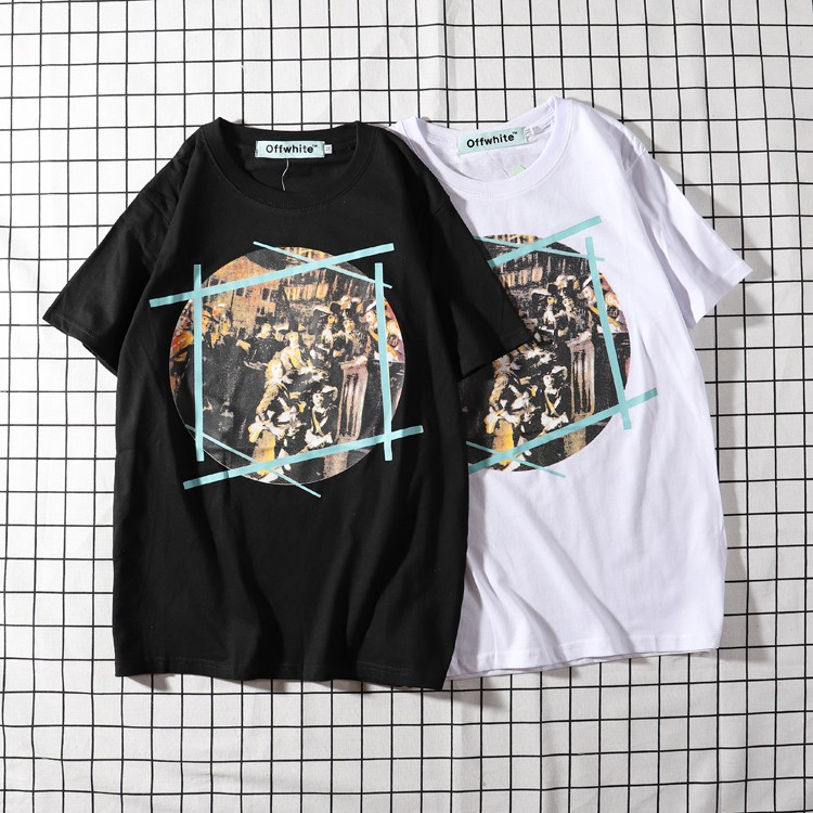 4f7be9dbad48 ProductImage. ProductImage. New Women MEN Short Sleeve 18SS Off White T -Shirs