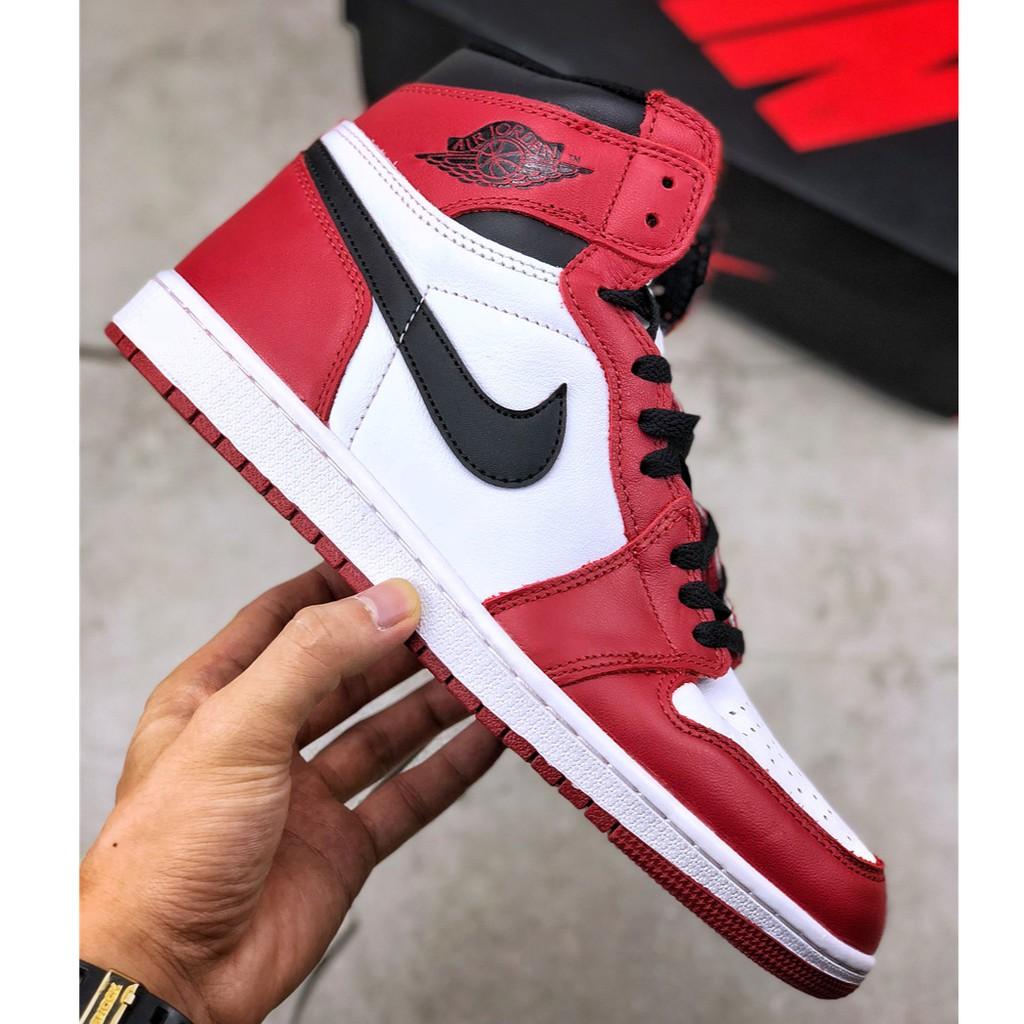 air jordan 1 red and white