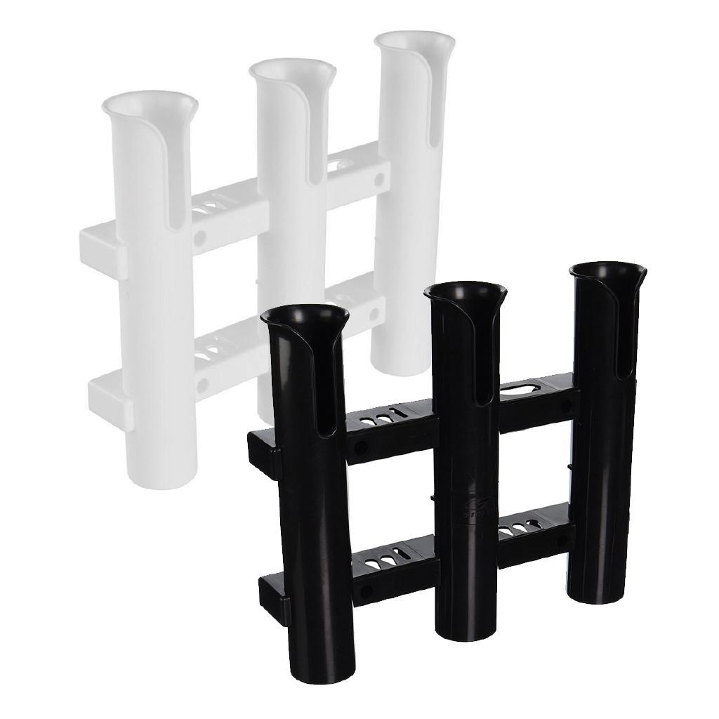 Plastic Fishing Rod Holder With 4 Tubes Rack For Marine Boat// Black Screws