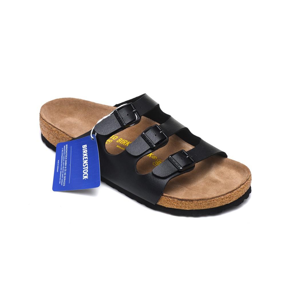 Birkenstock slippers three buckle matte black color summer fashion slippers