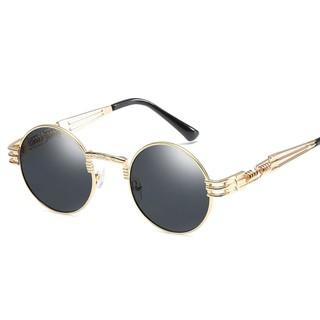 KEITHION Men Polarized Vintage Steampunk Sunglasses Driving Round Retro Eyewear
