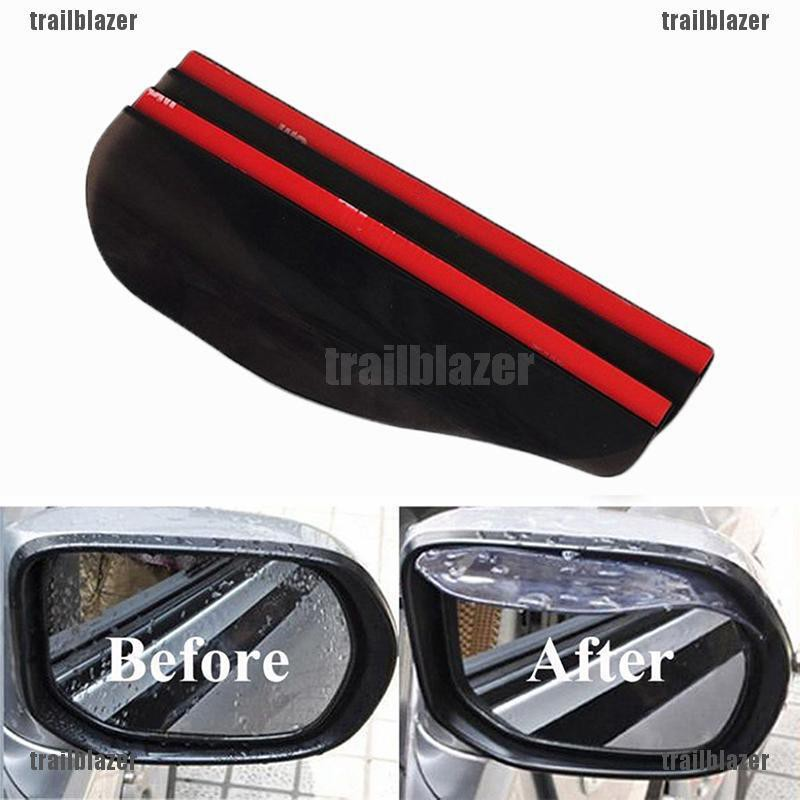 2Pcs Car Rear View Wing Mirror Sun Rain Visor Shield Rain Board Eyebrow Guard Black