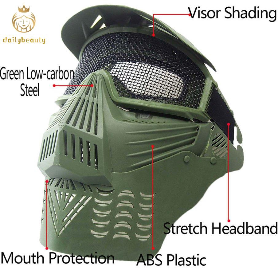 Face Mesh Mask Lightweight Hunting Tactical Outdoor Protective Face Mask