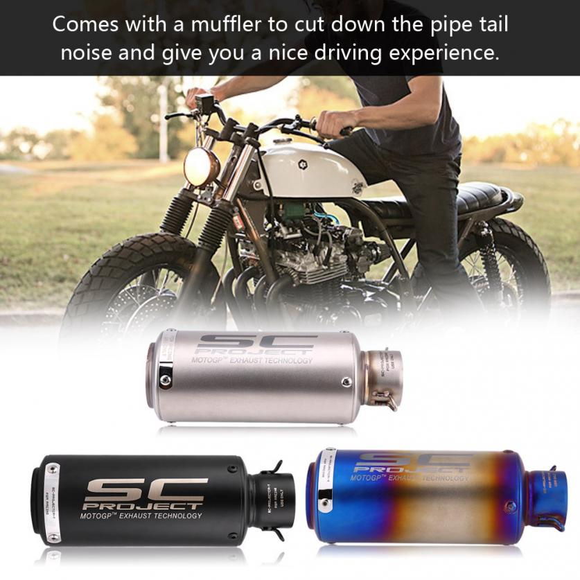 Motorcycle Exhaust Muffler Tailpipe Tail Pipe Tip Stainless