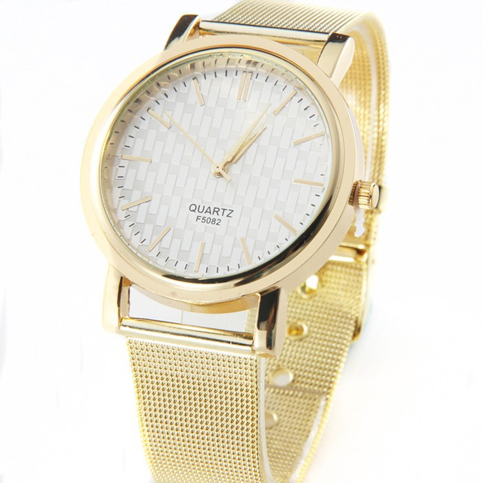 a91e70469c3a Fashion Ladies Women Unisex Stainless Steel Rhinestone Watch ...