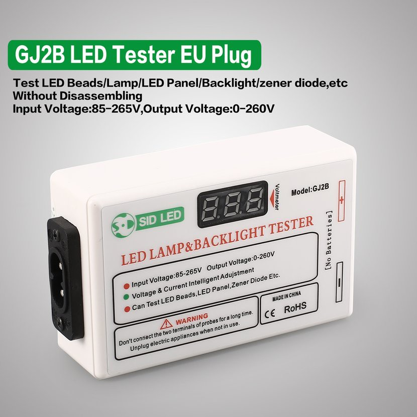 9A/GJ2B LED LCD Lamp Beads Strip Board TV Backlight Zener Diode Tester EU  Plug