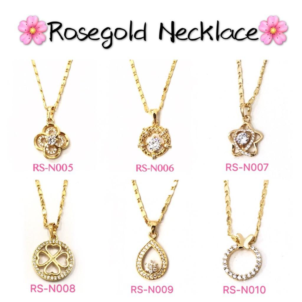 [KUSU] Bangkok 14k Rose Gold Diamonds Jewelry Necklace | Shopee Philippines