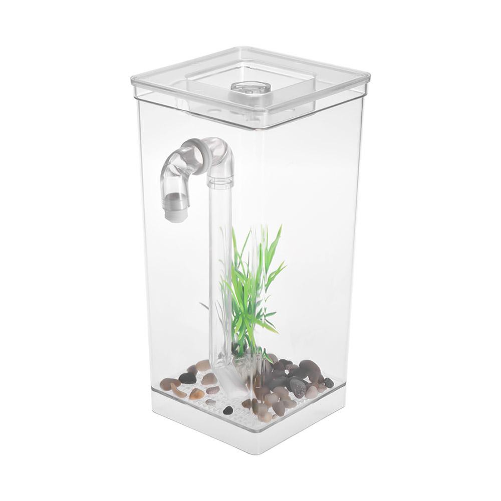 New Self Cleaning Small Fish Tank Bowl Convenient Acrylic Desk Aquarium For Office Home Creative Gif Shopee Philippines