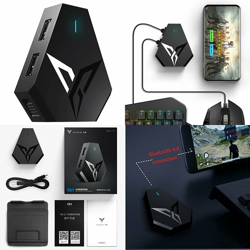 Flydigi Q1 PUBG Mobile Game Keyboard Mouse Adapter Converter for Android  iPhone