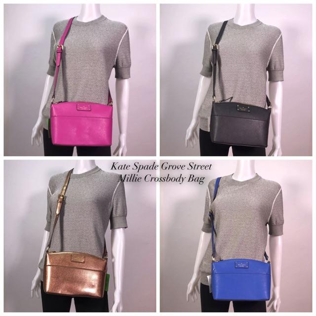 6f4749a93 Kate Spade Grove Street Millie Leather Crossbody Bag | Shopee Philippines