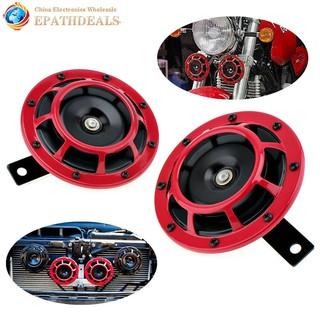 Loud Car Horn >> 2 Pieces 12v Red Super Loud Two Tone Car Horn