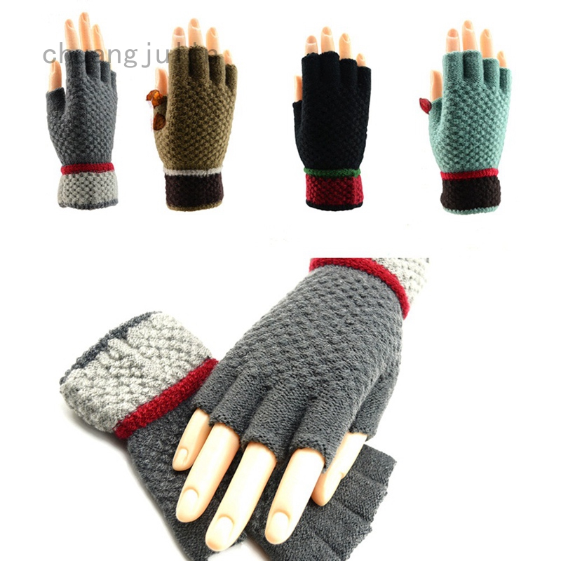 Women Touch Screen Gloves Thicken Knit Crochet Mittens Winter Warm Soft Gloves