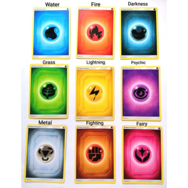 PSYCHIC GRASS METAL ENERGY CARDS LOT OF 45 FOR POKEMON TCG WATER DARKNESS