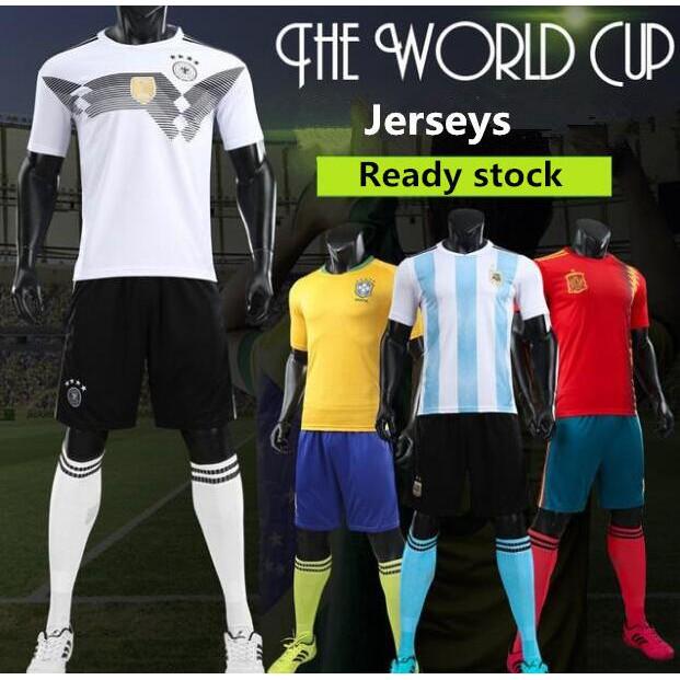 676b7c08f World Cup Spain Home men football jersey Sergio Ramos soccer ...