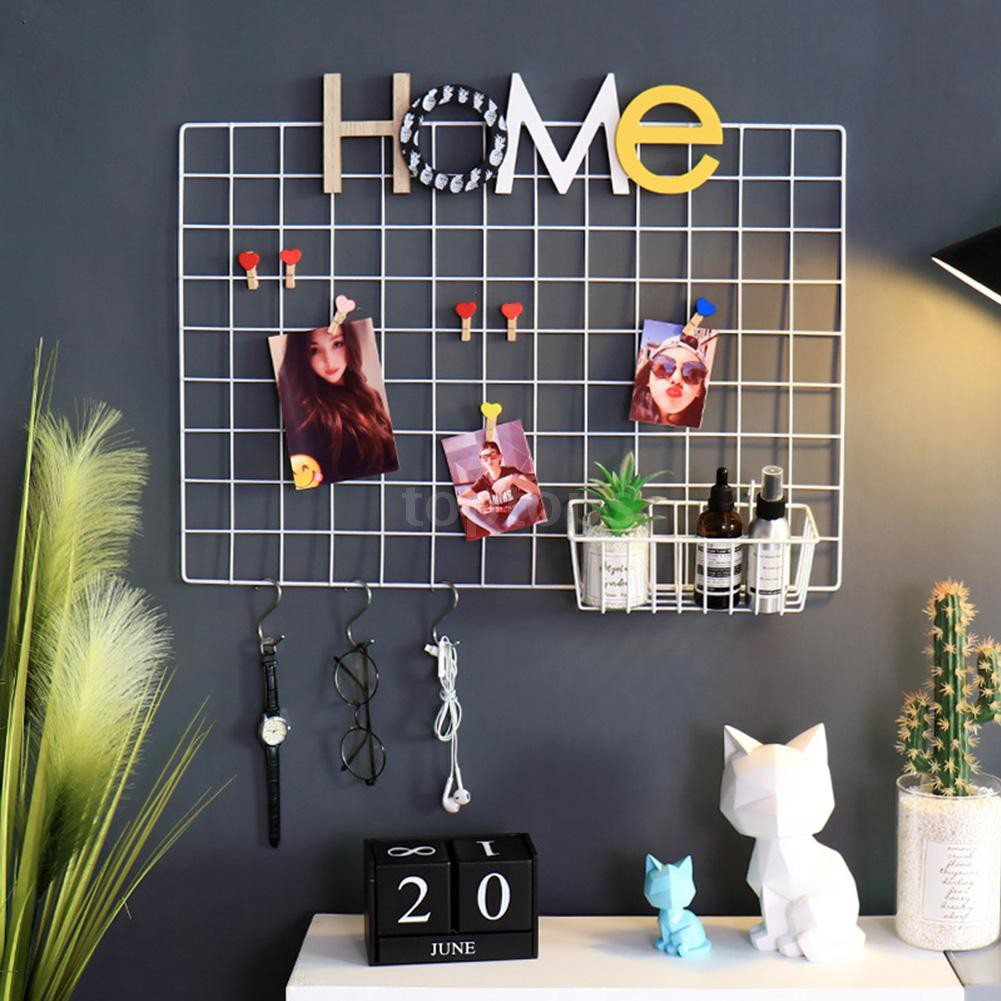 Ready Stock Diy Wire Grid Panel And Accessories Photo Wall Room Decoration Accessory S Shaped Hook Shopee Philippines