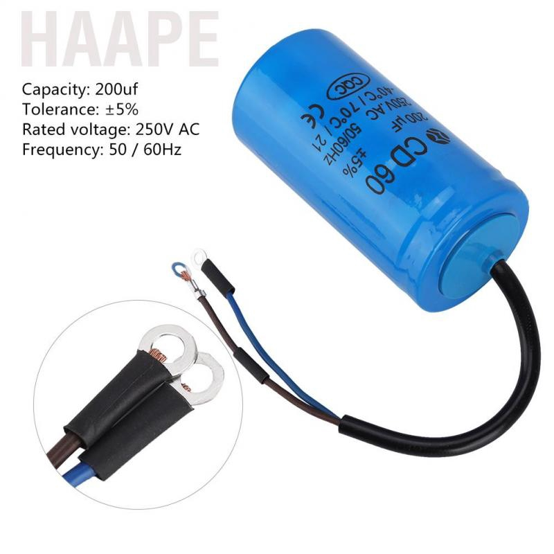 50uf 250V AC 50 60Hz Motor Capacitor Used for Air Conditioners Compressors and Motors CD60 Run Capacitor