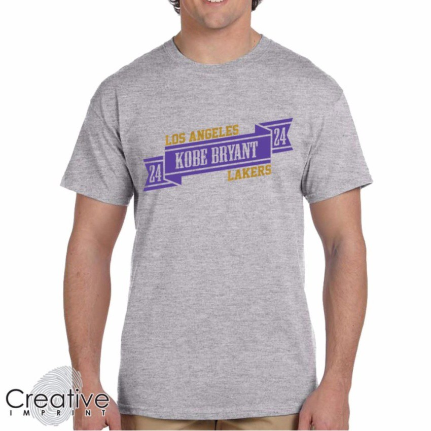 new arrival 7c9c5 9166f Kobe Bryant 24 LA Lakers Black NBA Cotton TShirt (Grey)   Shopee Philippines