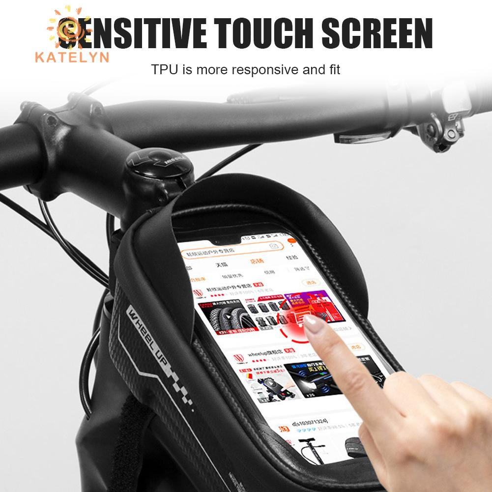 Wheel Up Waterproof Front Tube Bags Touchscreen MTB Bike Bag Cycling Accessories
