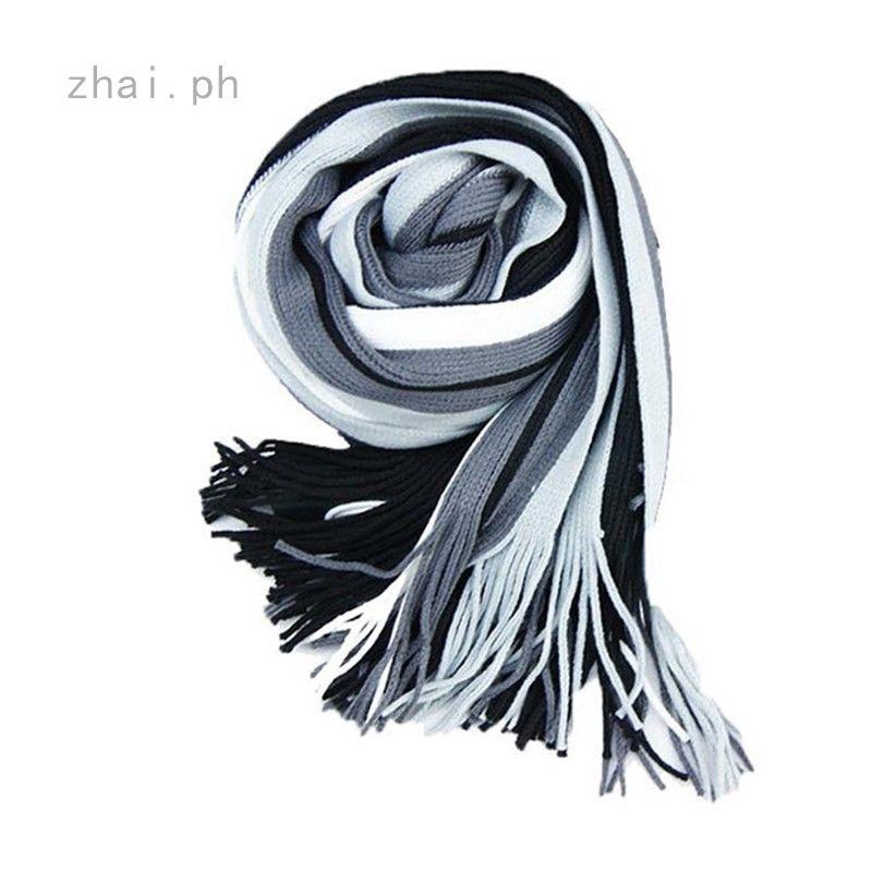 41e3623568b Hot Mens Scarf Winter Warm Soft Fringe Striped Tassel Long Shawl ...