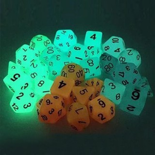 7Pcs//Set Luminous Polyhedral Dice For TRPG Dungeons /& Dragons DND Table Game