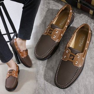 Men S Leather Shoes Loafers Casual Driving Shoes 603 Shopee Philippines