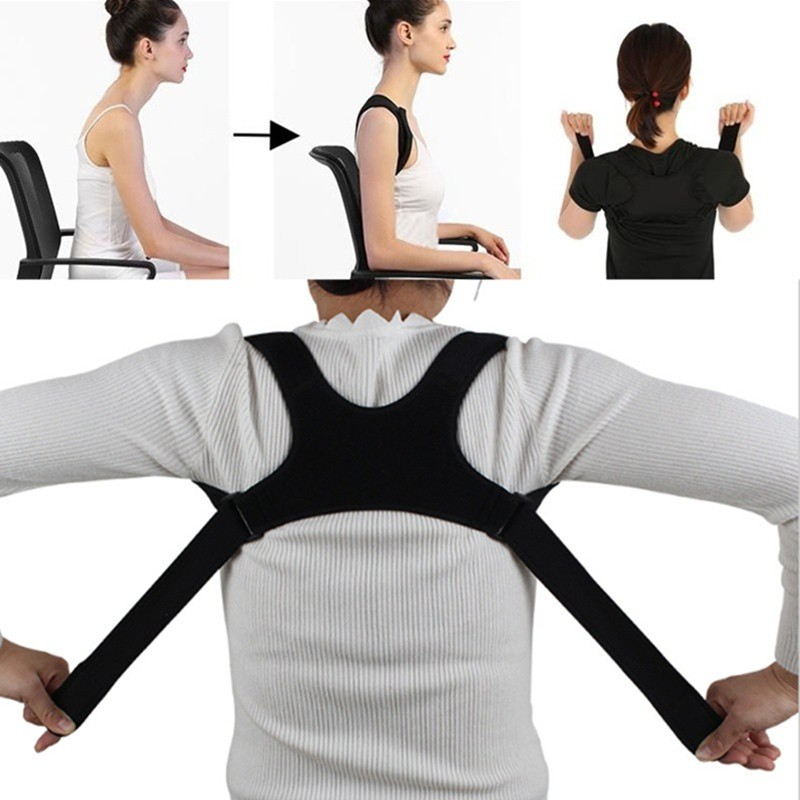 Back Shoulder Posture Correction Band Humpback Pain Relief Corrector Brace