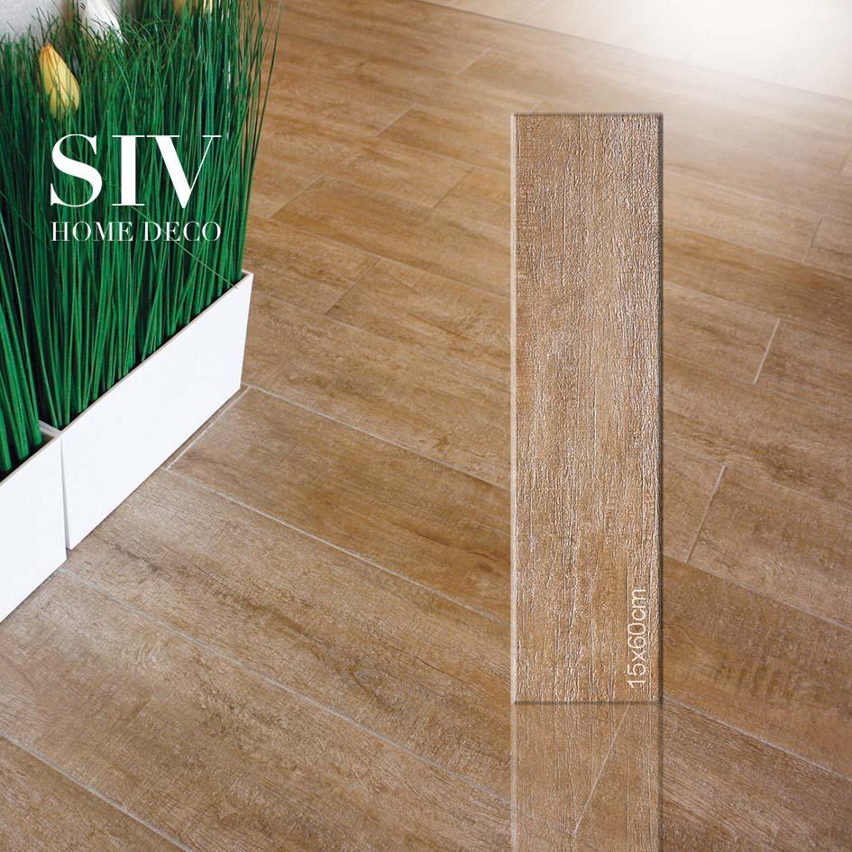 SIV floor porcelain tiles 20X20cm matt finished wooden design ...